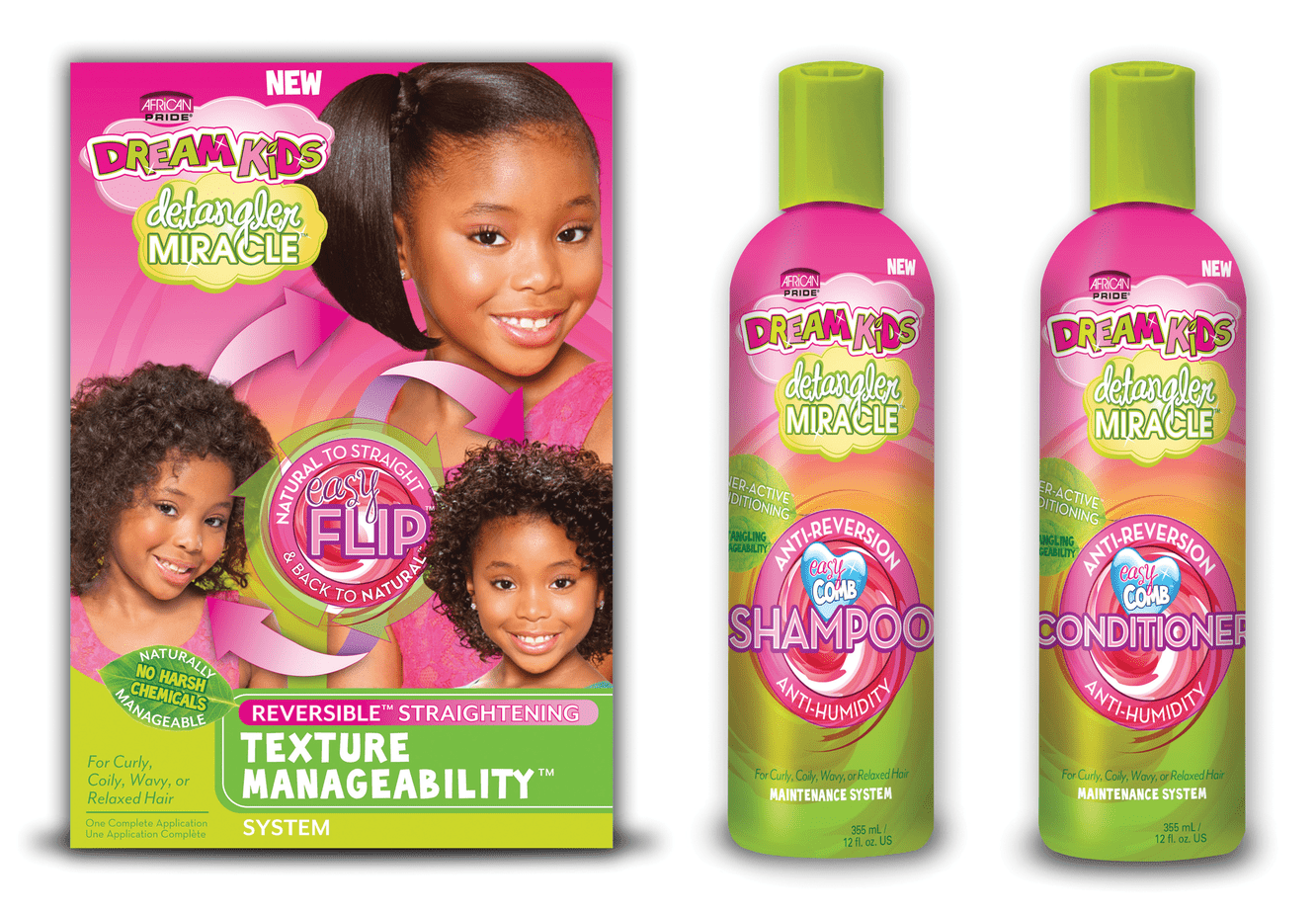 Dream Kids Detangler Miracle Texture Management System Results The